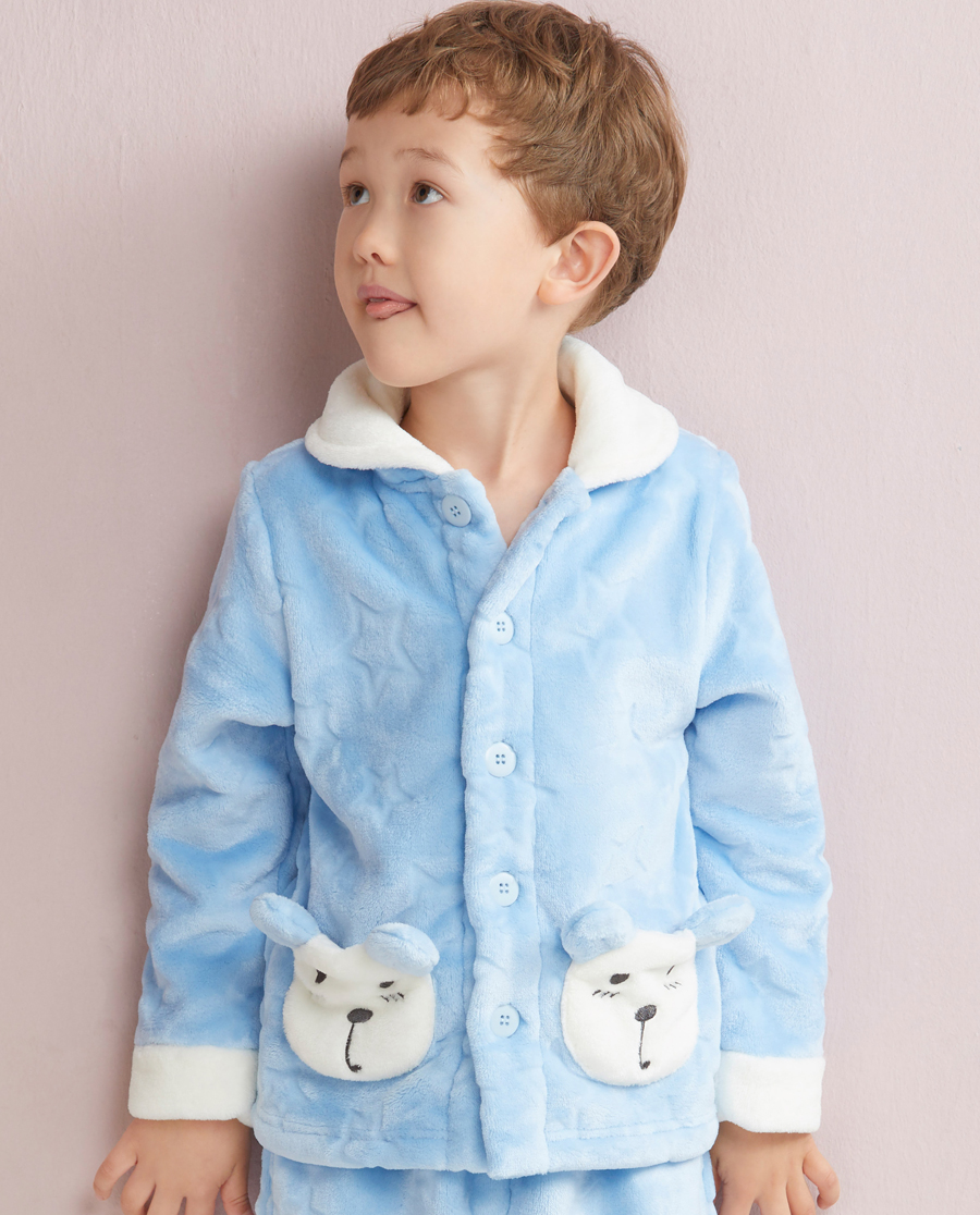 Aimer Kids睡衣|爱慕儿童星星熊开衫长袖家居上衣AK2410231