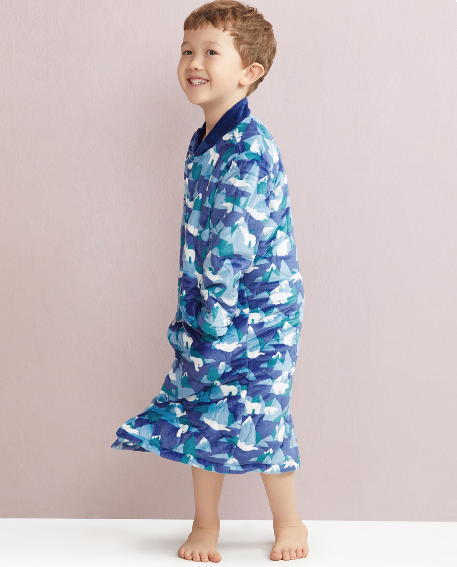 Aimer Kids睡衣|爱慕儿童冰山熊中款家居袍AK2440241