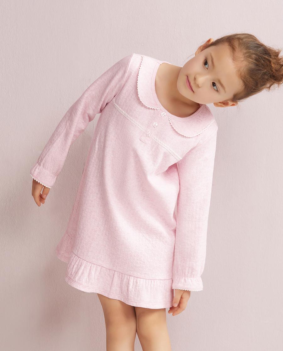 Aimer Kids睡衣|爱慕儿童棉棉新语套头睡裙AK1440251