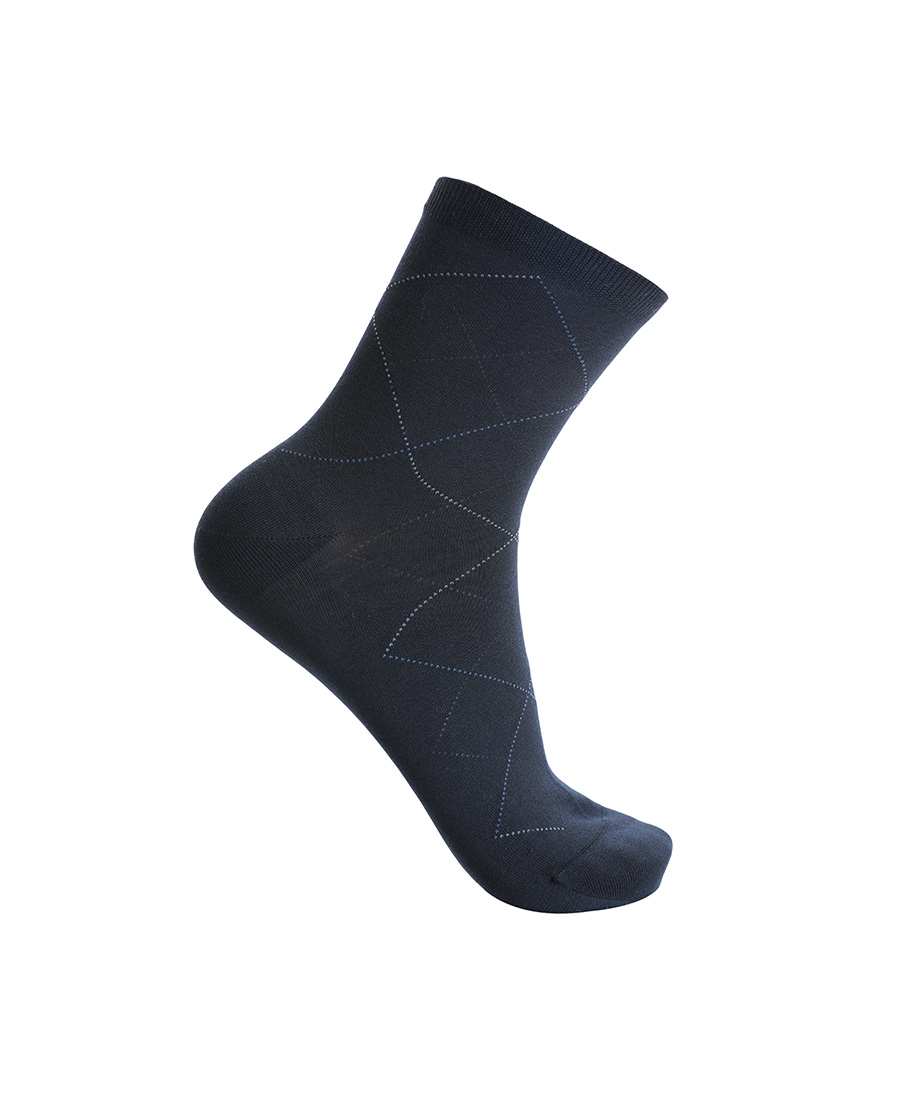 Aimer Men袜子 爱慕先生袜子休闲菱形格棉袜NS94W02