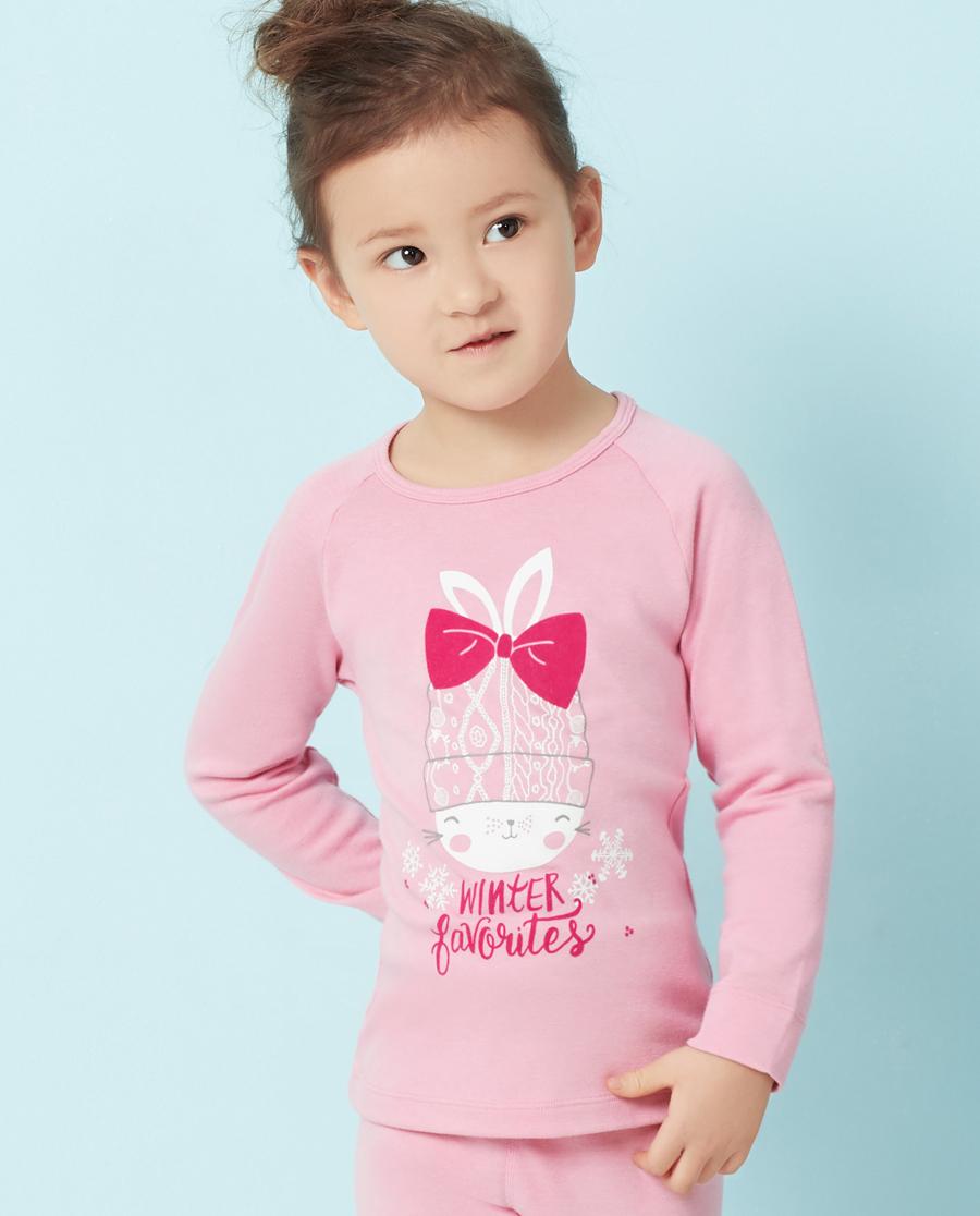 Aimer Kids保暖|爱慕儿童爱咪兔双层长袖上衣AK172T82