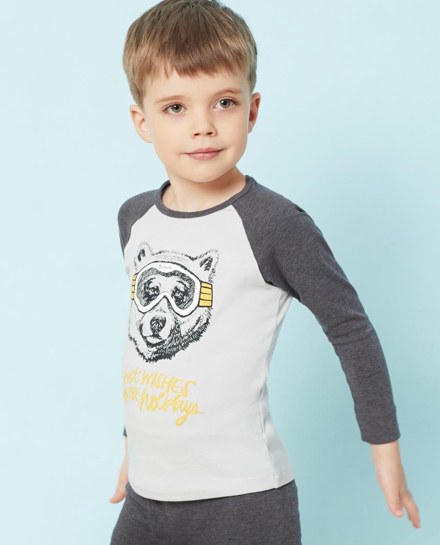 Aimer Kids保暖|爱慕儿童酷玩熊单层长袖上衣AK272T81