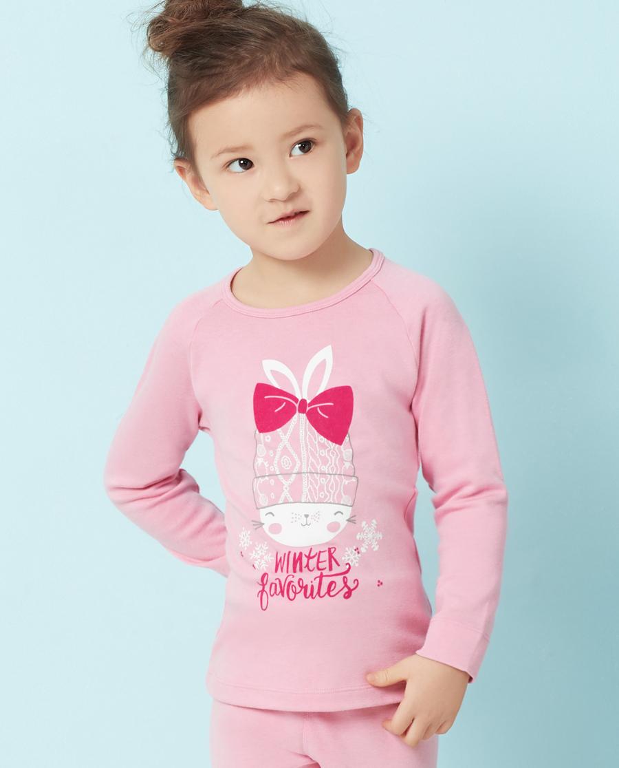 Aimer Kids保暖|爱慕儿童爱咪兔长袖上衣AK172T81