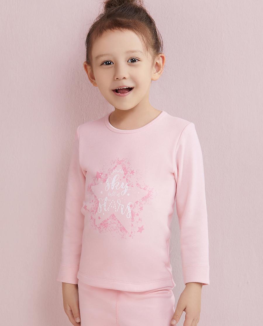Aimer Kids保暖 爱慕儿童暖阳单层圆领上衣AK1720331