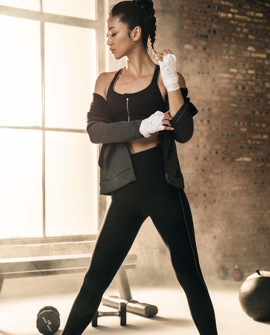 Aimer Sports运动装|爱慕运动任何天气跑步长裤AS153E51