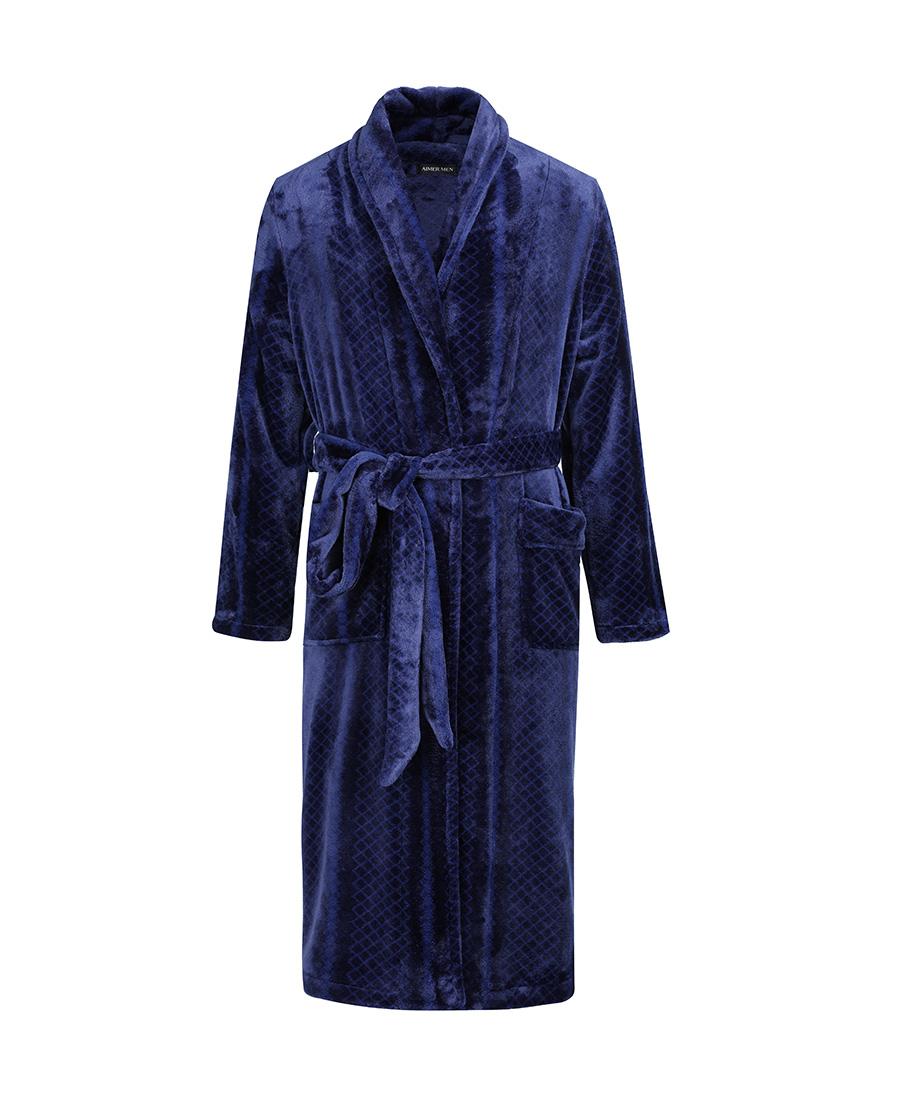 Aimer Men睡衣|爱慕先生珊瑚绒家居长袖睡袍NS41B253