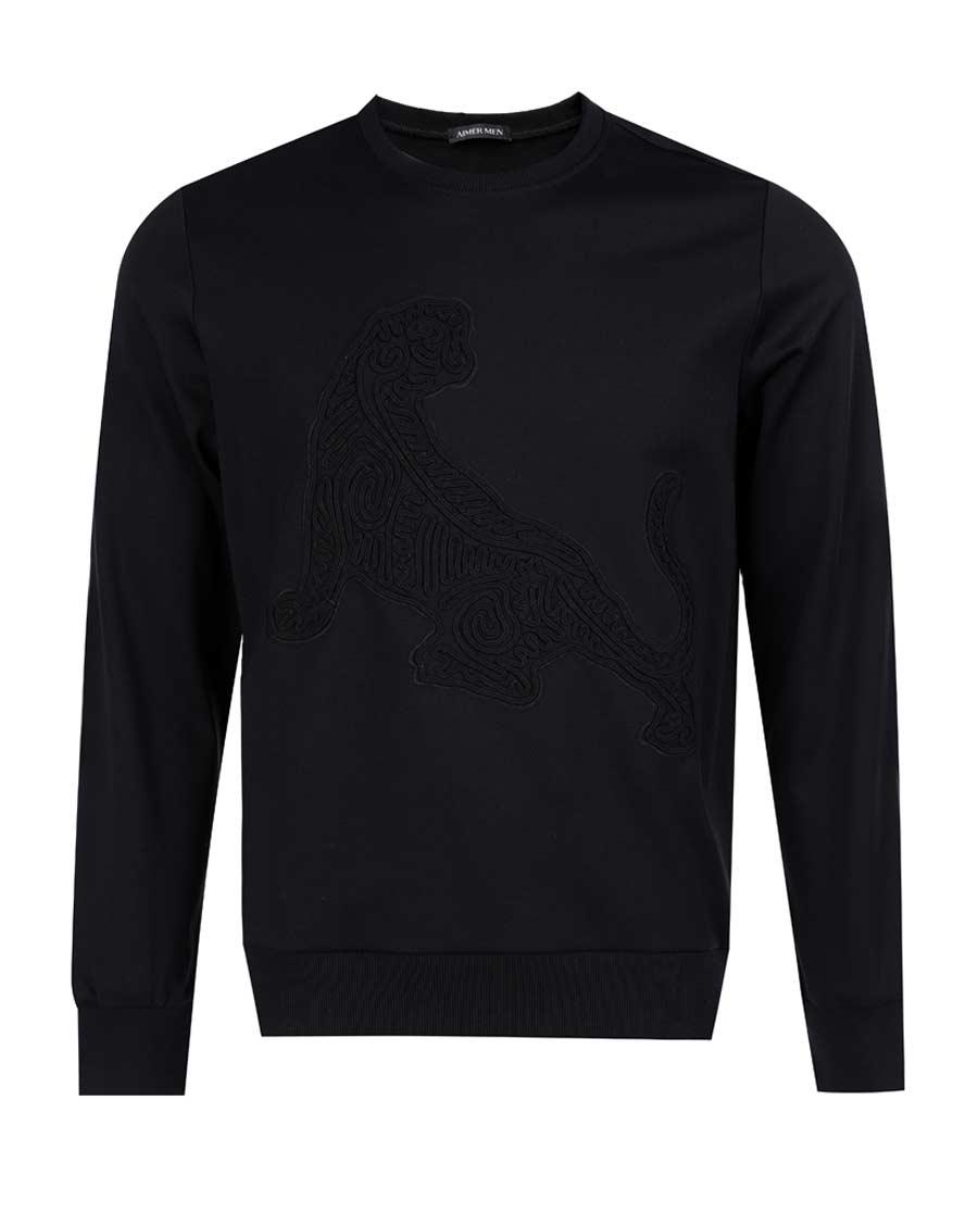 Aimer Men睡衣 爱慕先生创意时尚T系列圆领长袖上衣NS81B391