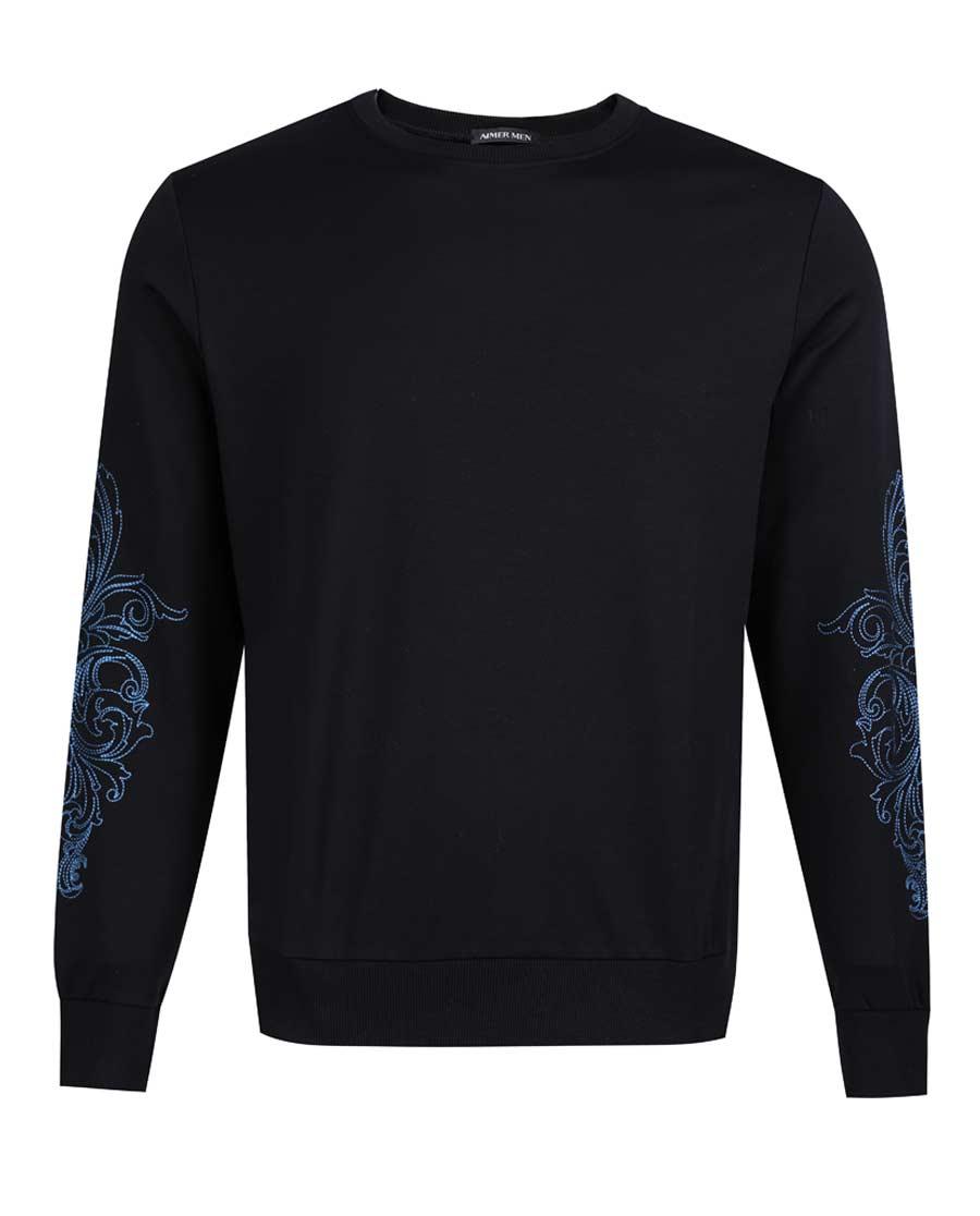 Aimer Men睡衣 爱慕先生创意时尚T系列圆领长袖上衣NS81B392