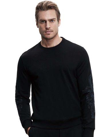 Aimer Men睡衣|爱慕先生创意时尚T系列圆领长袖上衣NS81B392