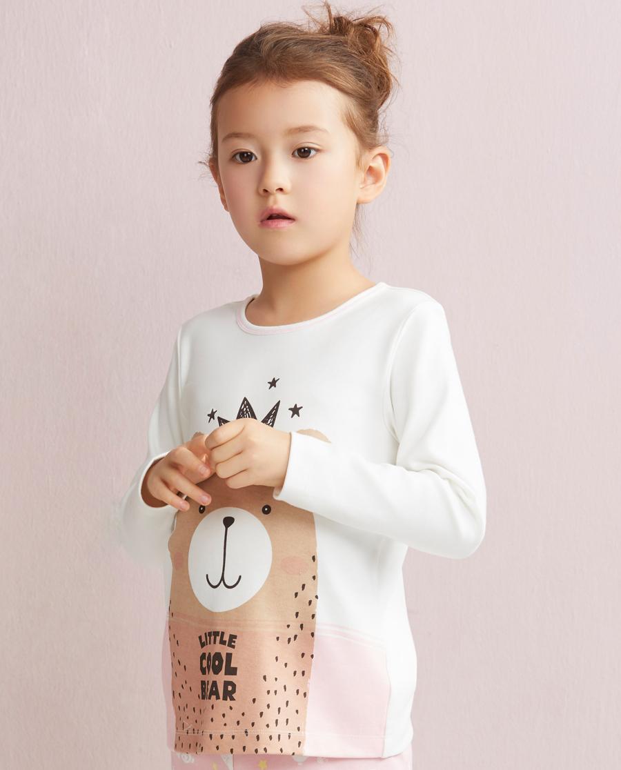 Aimer Kids睡衣 爱慕儿童北欧之旅套头长袖家居上衣AK1410181