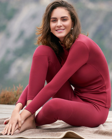 Aimer保暖 爱慕暖绒单层长裤AM732141