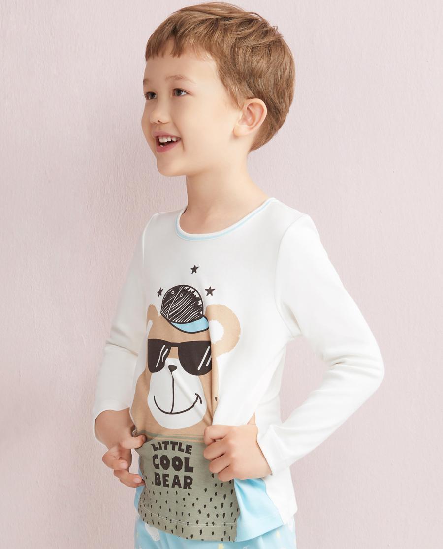 Aimer Kids睡衣 爱慕儿童北欧之旅套头长袖家居上衣AK2410181