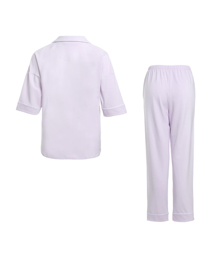 Aimer睡衣|爱慕假日时光短袖长裤分身套装AM462331