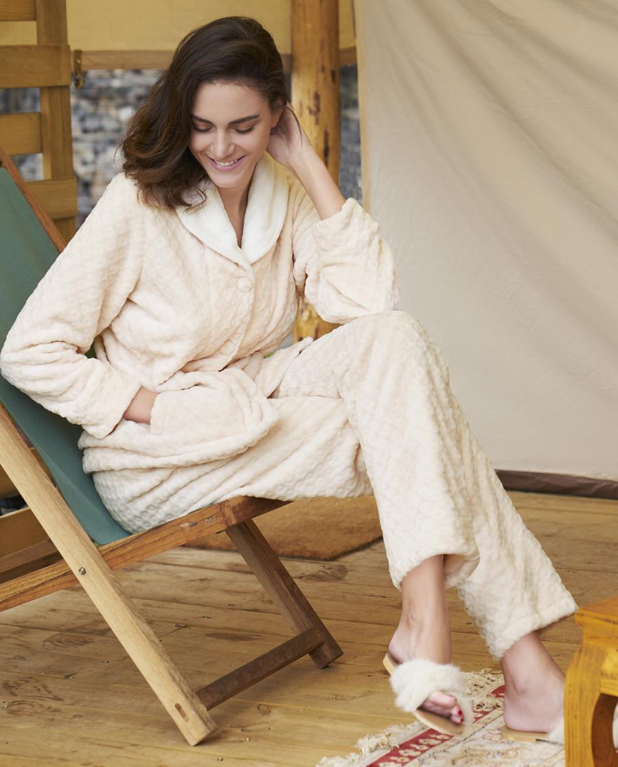 Aimer Home睡衣|爱慕家品雅致生活Ⅰ长袖长裤套装AH460261