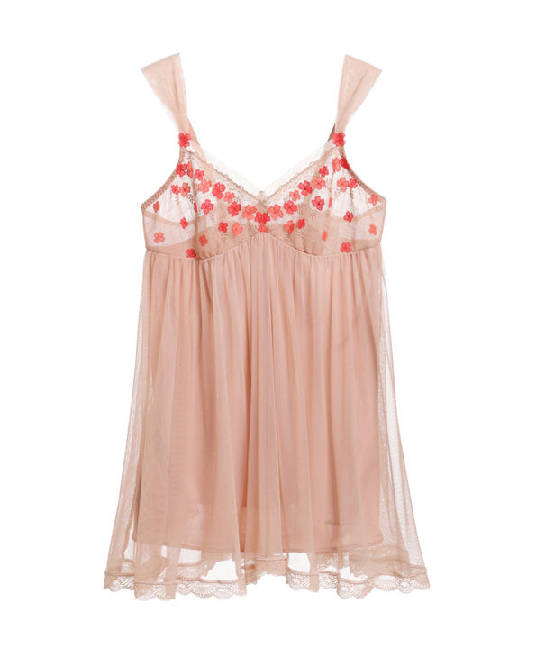 Aimer睡衣|爱慕繁花吊带短款睡裙AM422001