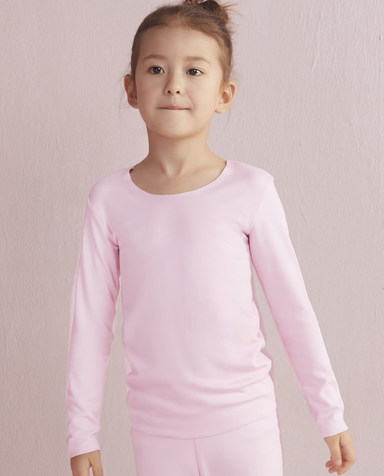 Aimer Kids保暖|爱慕儿童牛奶长袖上衣AK172T51