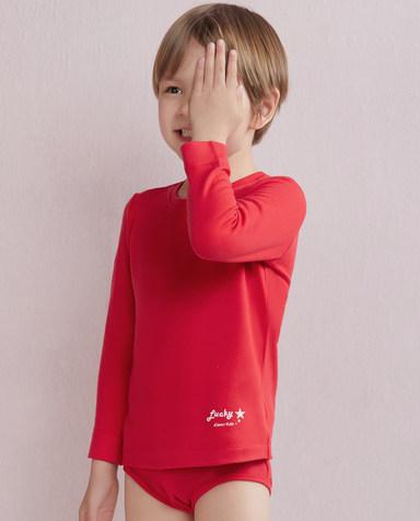 Aimer Kids保暖|爱慕儿童暖绒圆领长袖上衣AK3720361