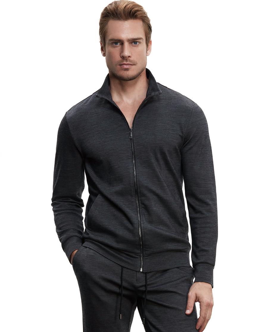 Aimer Men休闲外穿 ag真人平台先生羊毛外穿立领拉链长袖上衣NS81B351