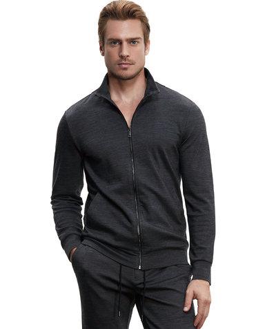 Aimer Men休闲外穿|爱慕先生羊毛外穿立领拉链长袖上衣NS81B351