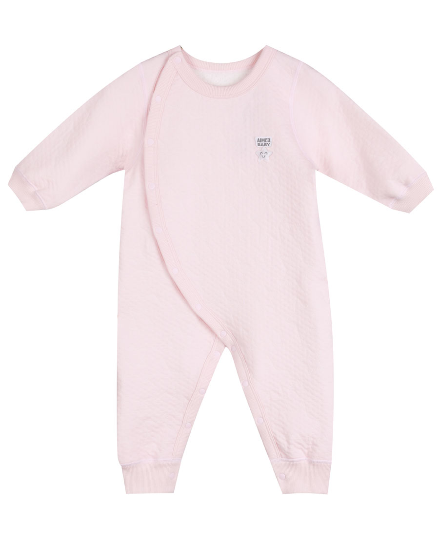 Aimer Baby保暖|爱慕婴儿星点宝贝长袖连体爬服AB1750211