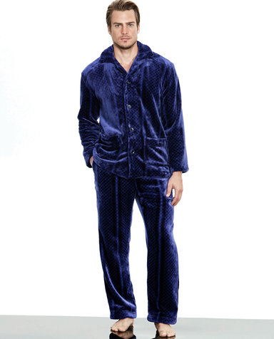 Aimer Men睡衣|爱慕先生珊瑚绒家居长裤NS42B251