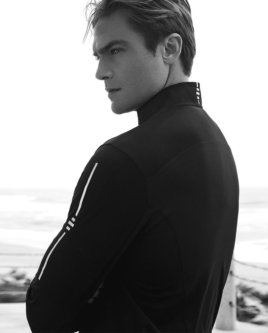 Aimer Men运动装 ag真人平台先生18SS酷黑运动立领拉链长袖上衣NS62A747