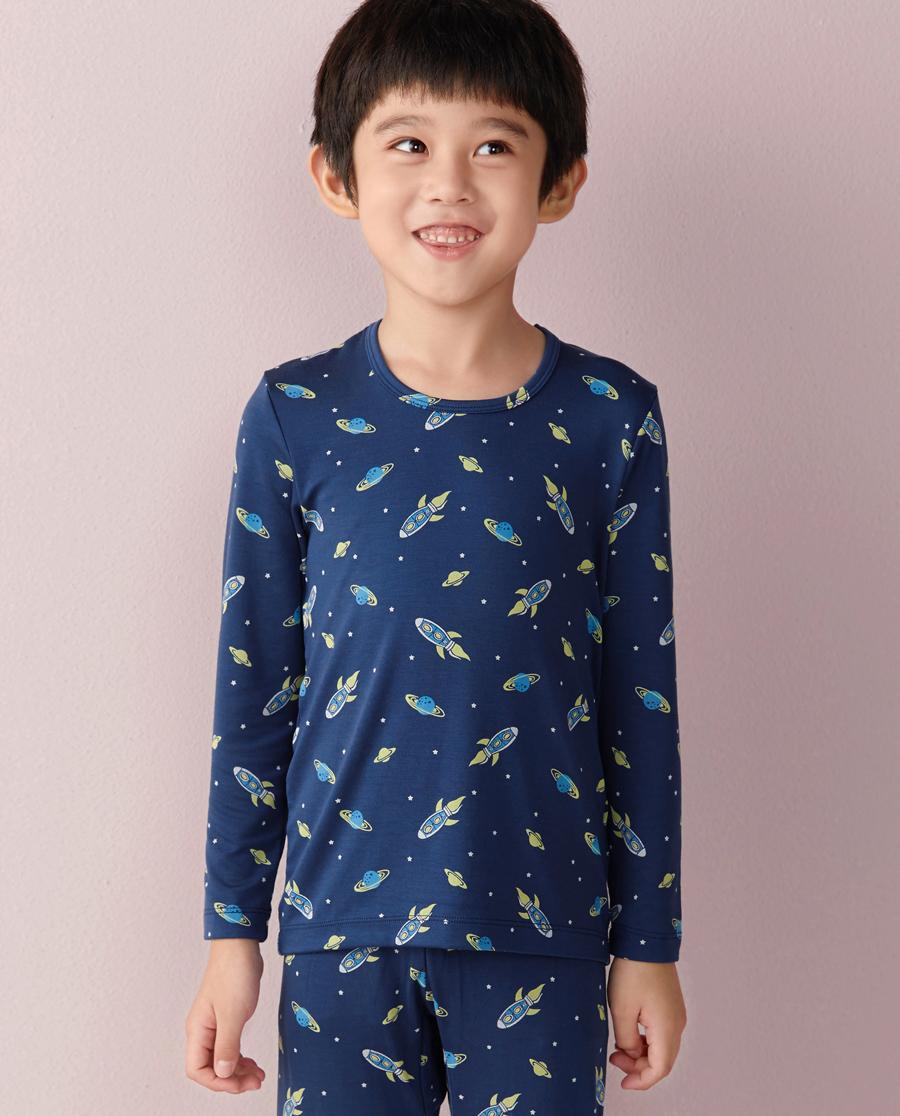 Aimer Kids保暖|ag真人平台儿童太空漫游长袖上衣AK2720682