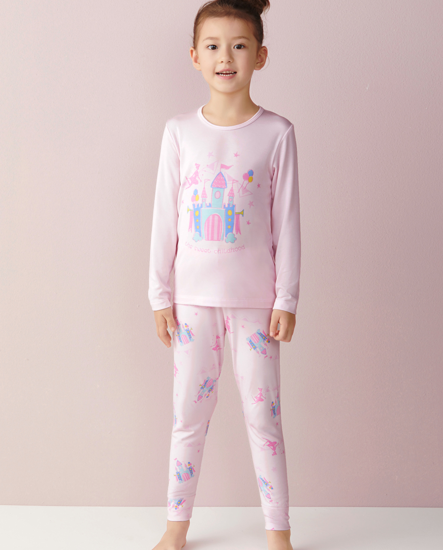 Aimer Kids保暖|ag真人平台儿童梦幻城堡长裤AK1730681