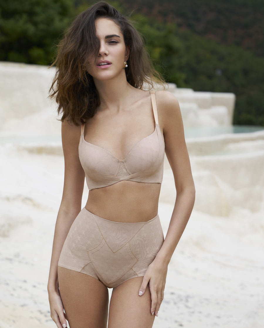 MODELAB美体|爱慕慕澜菱塑重型中腰短款平角塑裤AD33