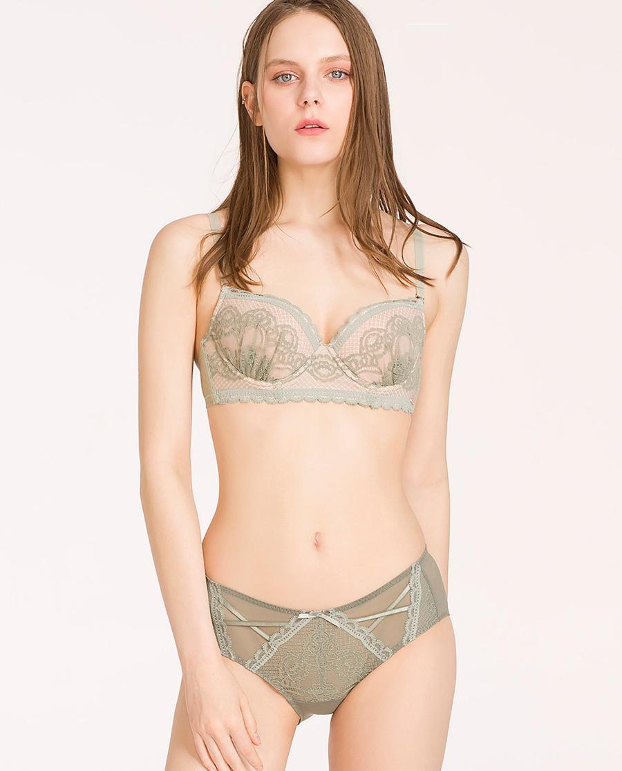 imi's内裤 爱美丽浪漫蕾丝低腰平角裤IM23APM1