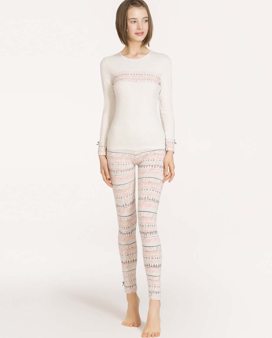 IMIS保暖|爱美丽TEEN-保暖小小猫头鹰棉氨纶长裤
