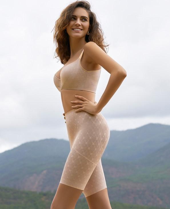 MODELAB美体 爱慕慕澜菱塑重型高腰中款长腿塑裤AD33D21