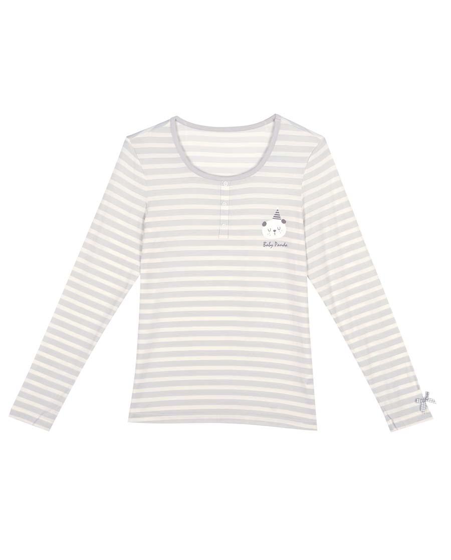 imi's保暖|爱美丽TEEN-保暖熊猫宝贝牛奶圆领长袖