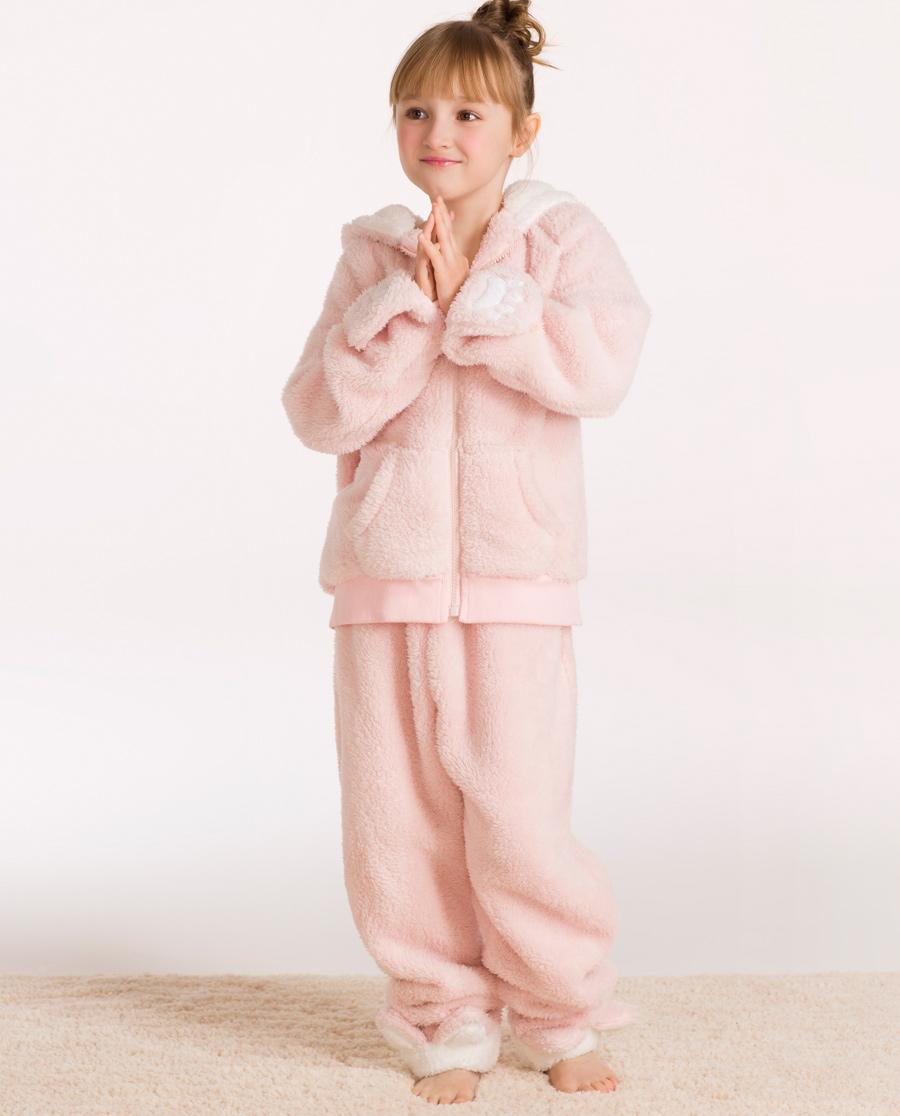 imi's睡衣|爱美丽可爱卡通儿童家居服带帽连体睡衣IM46ANT2