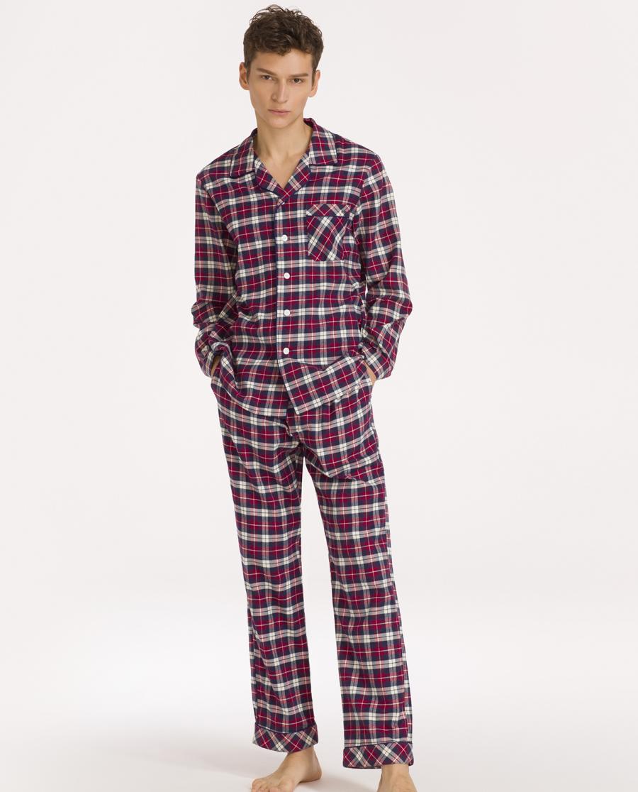imi's睡衣|爱美丽男式家居服翻领开衫长袖上衣长裤睡衣套装IM46ANW2