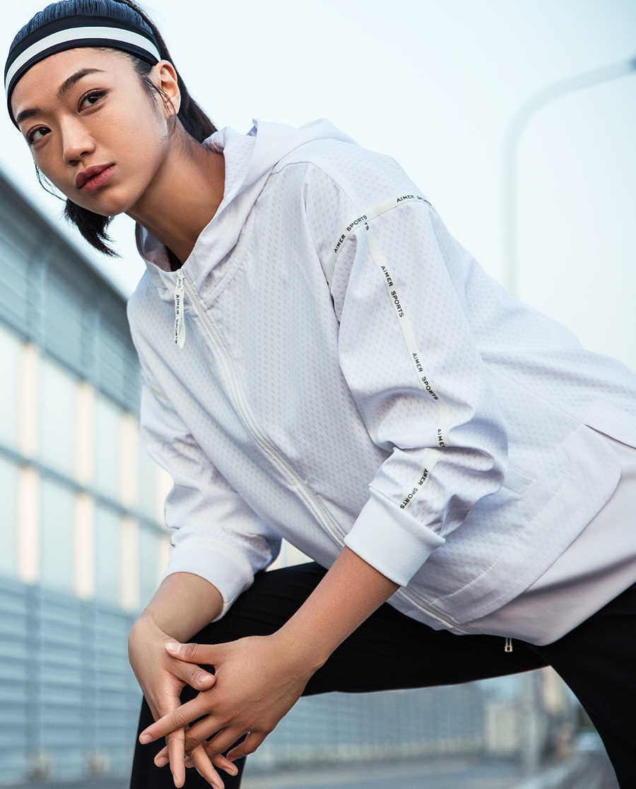 Aimer Sports睡衣|爱慕运动早春之旅带帽拉链外套AS144F11