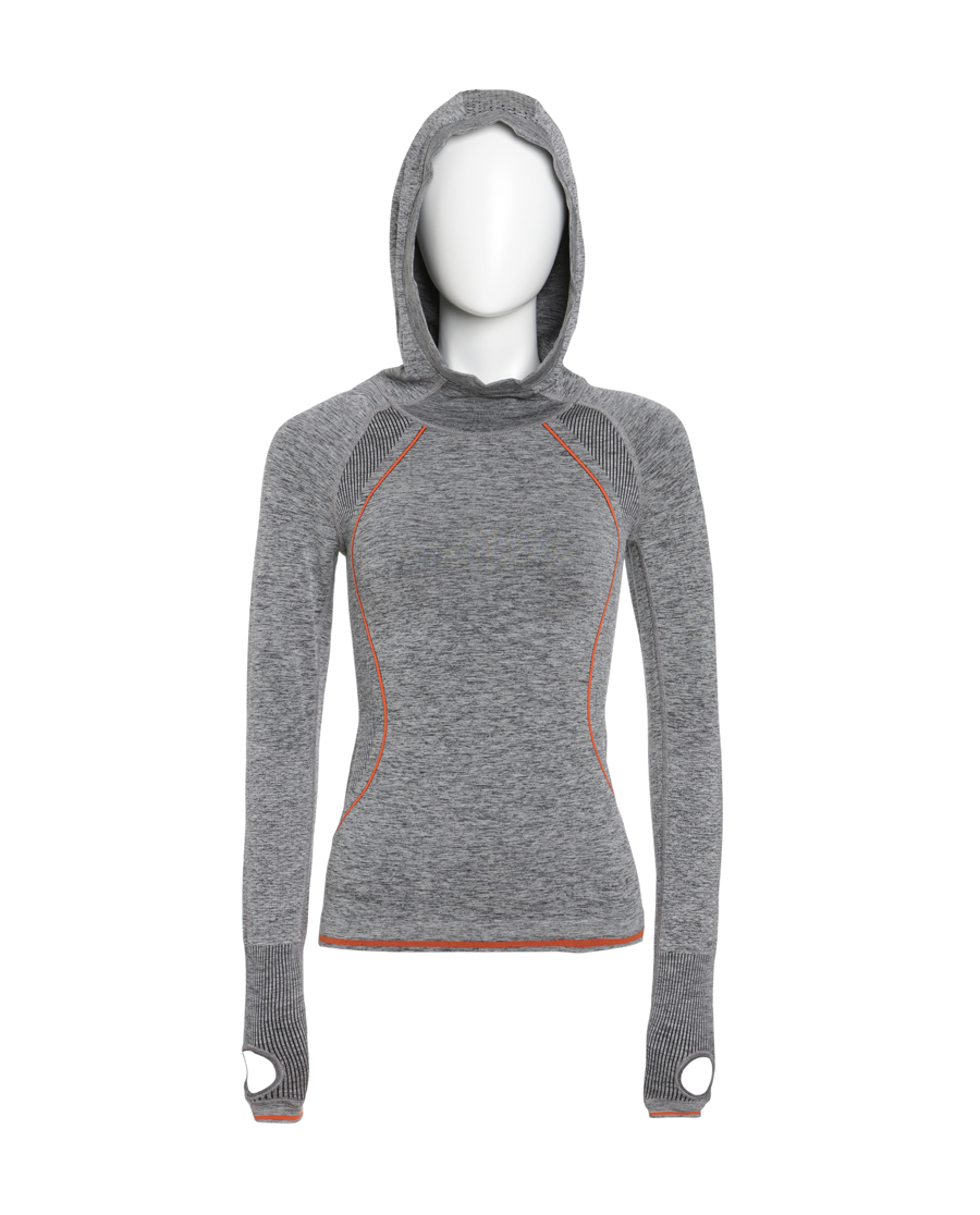 Aimer Sports运动装|爱慕运动花纱物语套头带帽上衣AS114B91