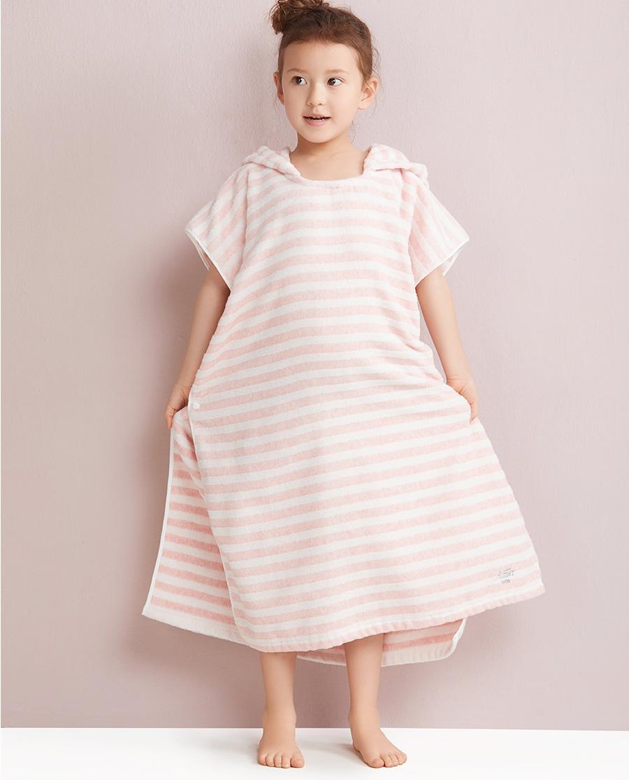 Aimer Kids睡衣|爱慕儿童植物的色连帽浴袍AK1440111