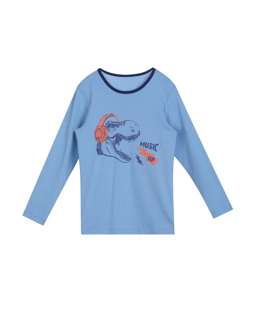 Aimer Kids保暖 爱慕儿童摇滚恐龙长袖上衣AK2720621