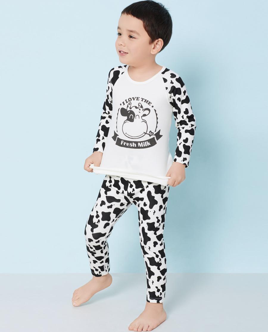 Aimer Kids保暖|ag真人平台儿童软奶糖长裤AK373H91