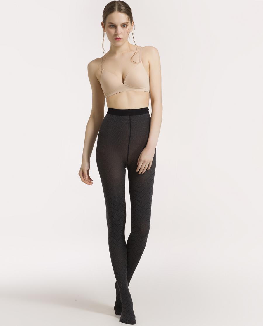 IMIS保暖|爱美丽18AW打底裤袜波浪折线提花连裤袜