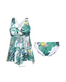 爱慕热带丛林裙式分身泳衣AM672561