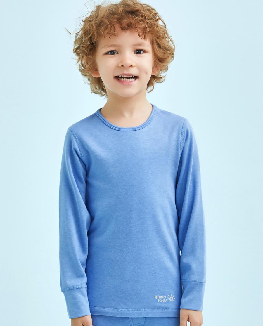 Aimer Kids保暖|爱慕儿童暖尚双层圆领长袖上衣AK272P13