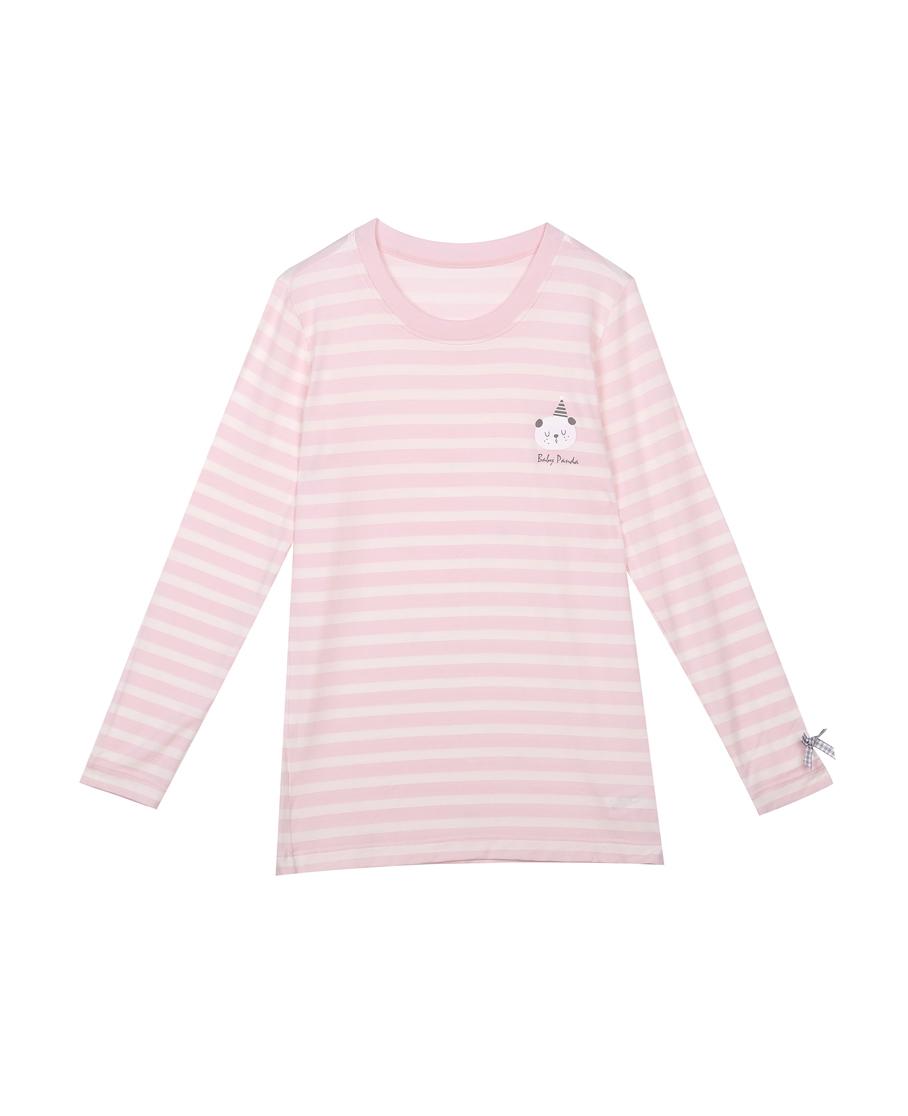 IMIS保暖|愛美麗TEEN-保暖熊貓寶貝女童牛奶圓領