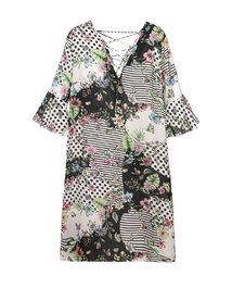 爱慕斐济幻想五分袖中长沙滩裙AM602571