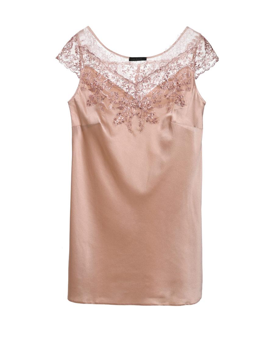 La Clover睡衣|LA CLOVER璀璨系列小袖短款睡裙LC44HL1