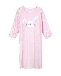 爱慕儿童天使爱兔儿女童七分袖中长睡裙AK1440881