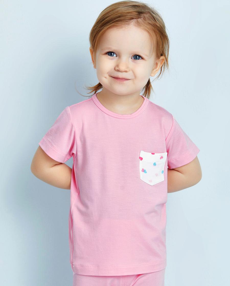 Aimer Baby睡衣|爱慕婴儿爱心兔宝女幼婴短袖上衣AB1411003