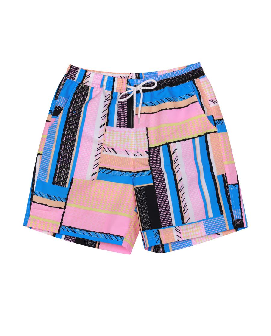 imi's泳衣|爱美丽泳衣彩色律动男式沙滩裤IM64BM