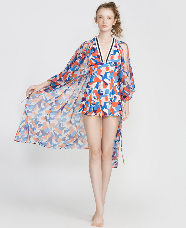 IMIS泳衣 爱美丽泳衣新世界沙滩裙IM63CMH1